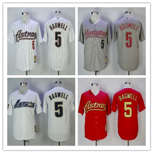 Men Jeff Bagwell Throwback White, Gray, Red
