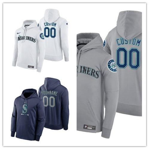 Men Custom Pullover Hoodie White, Gray, Navy Blue