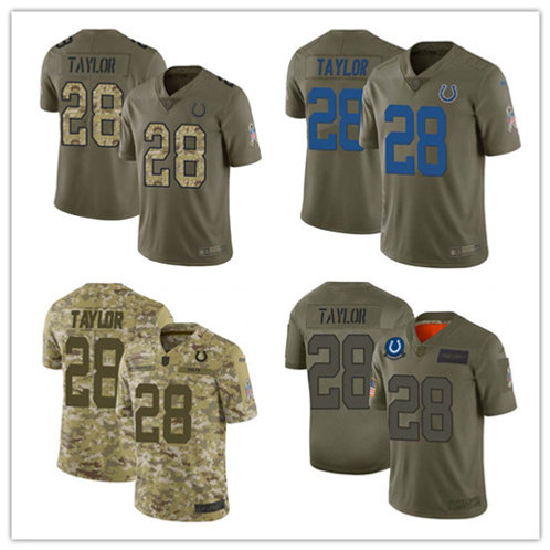 Youth Jonathan Taylor Limited Salute to Service Olive, Camo