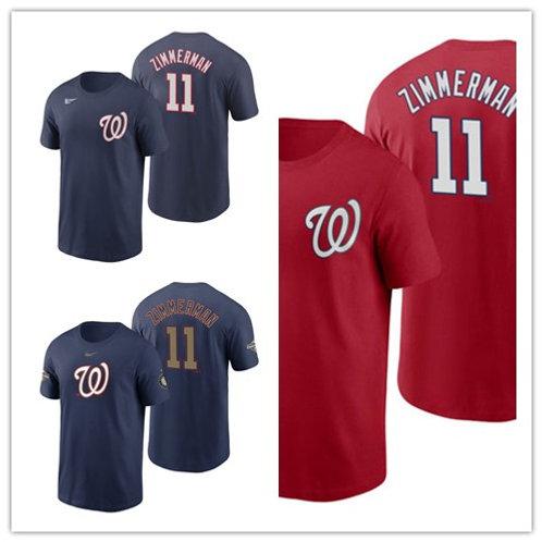 Men Ryan Zimmerman T-Shirt Navy Blue, Scarlet