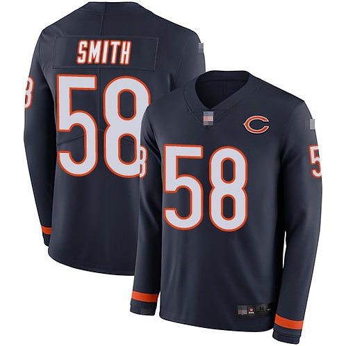 Men Roquan Smith Navy Blue Therma Long Sleeve