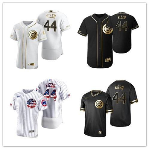 Men Anthony Rizzo White Golden, Black Golden, Stars/Stripes