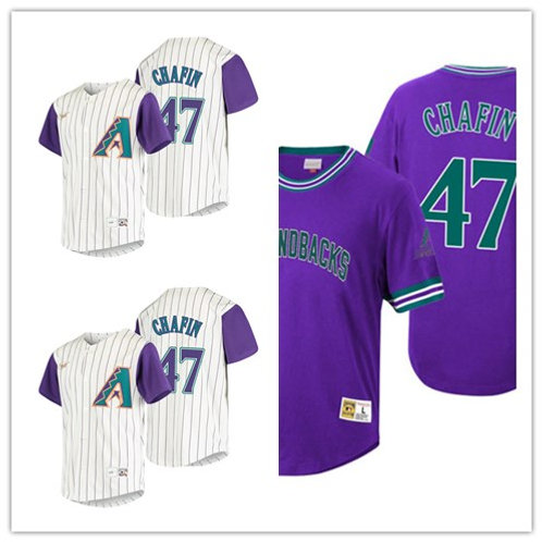 Men Andrew Chafin Cooperstown White, Purple