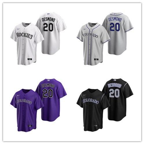 Men Ian Desmond 2020/21 Replica White, Gray, Purple, Black