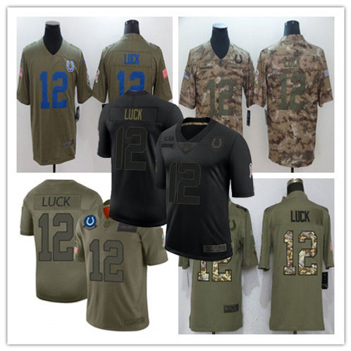 Men Andrew Luck Limited Salute to Service Olive, Camo, Black