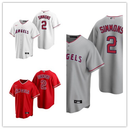 Men Andrelton Simmons 2020/21 Replica White, Gray, Red