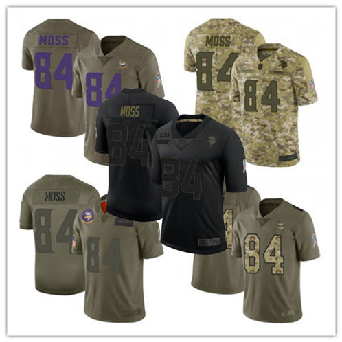 Men Randy Moss Limited Salute to Service Olive, Camo, Black