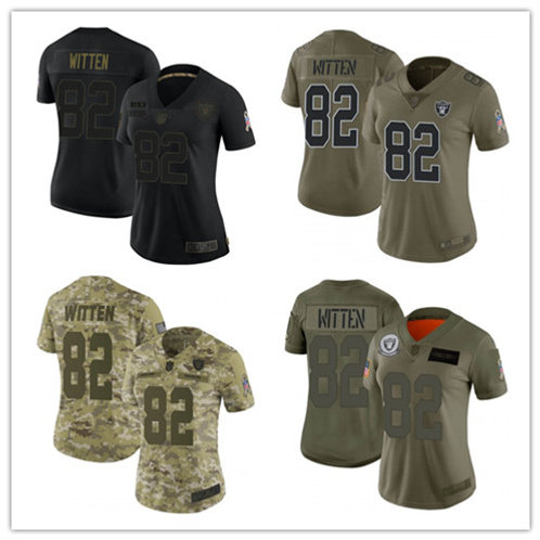 Women Jason Witten Limited Salute to Service Olive, Camo, Black