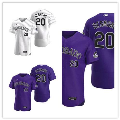 Men Ian Desmond 2020/21 Authentic White, Purple