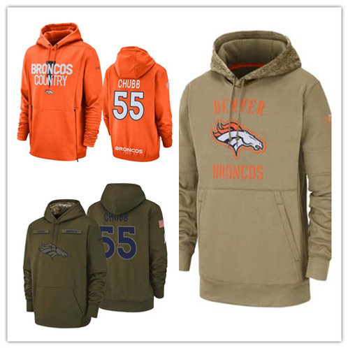 Men Bradley Chubb Salute to Service Hoodie Olive, Orange, Khaki