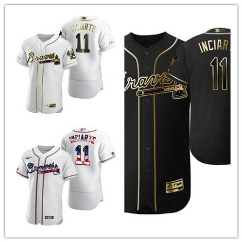 Men Ender Inciarte White Golden, Black Golden, Stars/Stripes