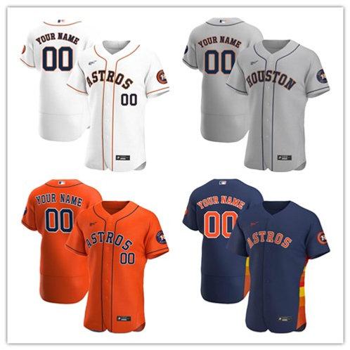 Men Custom 2020/21 Authentic White, Gray, Orange, Navy Blue