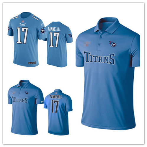Men Ryan Tannehill Shirt Polo Light Blue