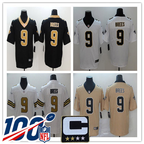 Youth Drew Brees Vapor Limited Black, White, Color Rush, Gold