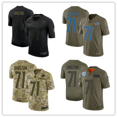 Youth Danny Shelton Limited Salute to Service Olive, Camo, Black