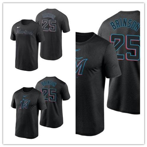 Men Lewis Brinson T-Shirt Black