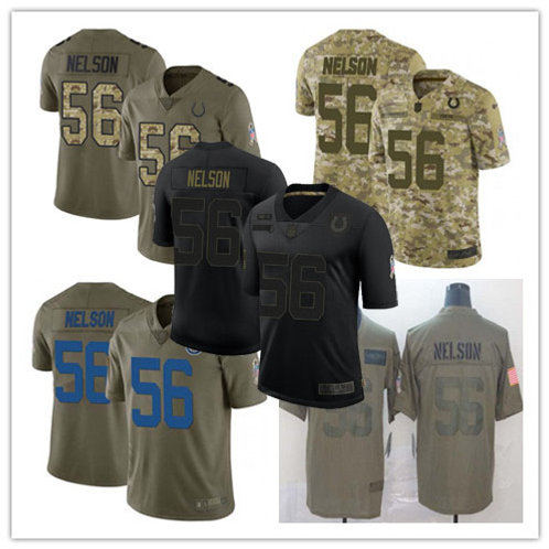 Youth Quenton Nelson Limited Salute to Service Olive, Camo, Black