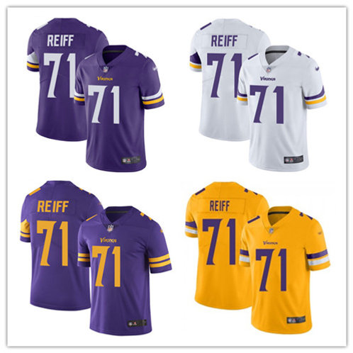 Men Riley Reiff Vapor Limited Purple, White, Color Rush, Gold
