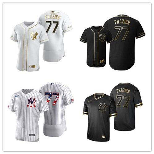 Men Clint Frazier White Golden, Black Golden, Stars/Stripes