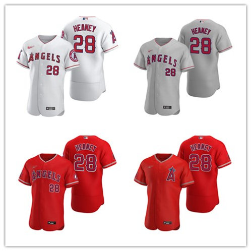 Men Andrew Heaney 2020/21 Authentic White, Gray, Red