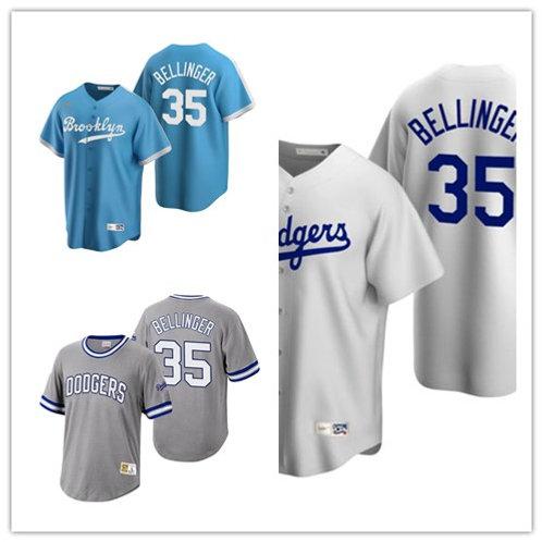 Men Cody Bellinger Cooperstown Light Blue, White, Gray