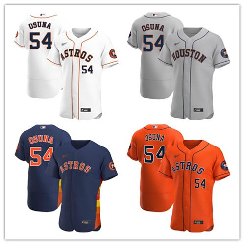 Men Roberto Osuna 2020/21 Authentic White, Gray, Orange, Navy Blue