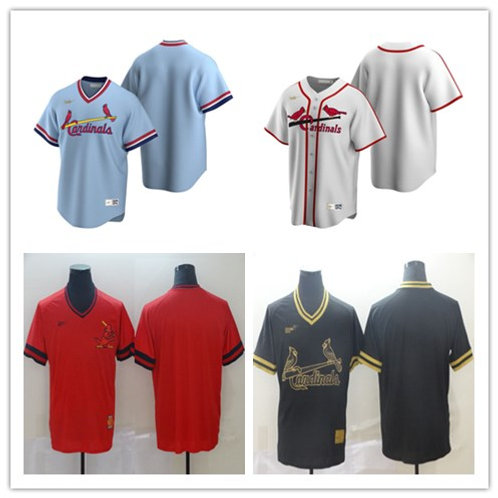 Men Blank Cooperstown White, Light Blue, Red, Black