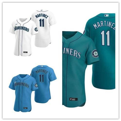 Men Edgar Martinez 2020/21 Authentic White, Green, Light Blue