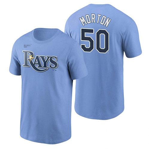 Men Charlie Morton T-Shirt Light Blue