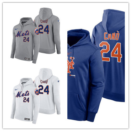 Men Robinson Cano Pullover Hoodie White, Gray, Royal