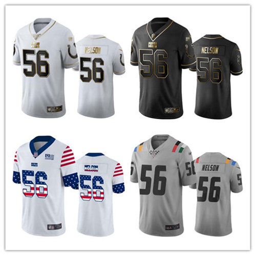 Men Quenton Nelson Limited Golden Edition, City Edition, Independence Day