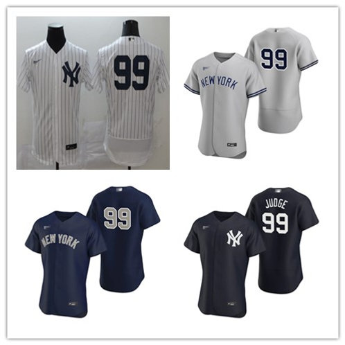 Men Aaron Judge 2020/21 Authentic White, Gray, Navy Blue, Black