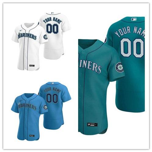 Men Custom 2020/21 Authentic White, Green, Light Blue