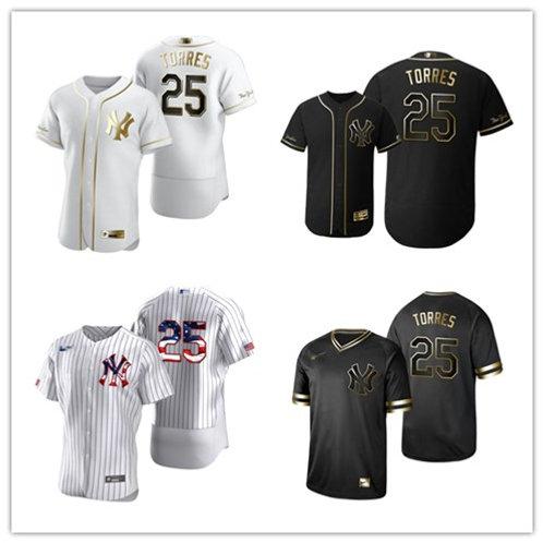 Men Gleyber Torres White Golden, Black Golden, Stars/Stripes