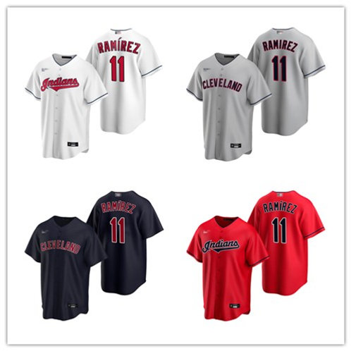 Men Jose Ramirez 2020/21 Replica White, Gray, Scarlet, Navy Blue