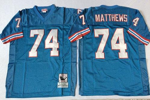 Men Bruce Matthews Throwback Light Blue