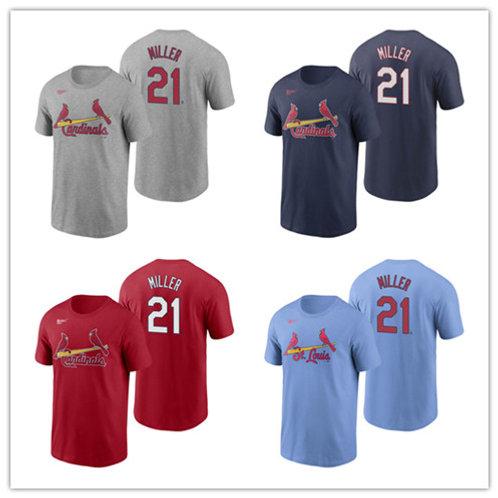 Men Andrew Miller T-Shirt Gray, Red, Navy Blue, Light Blue