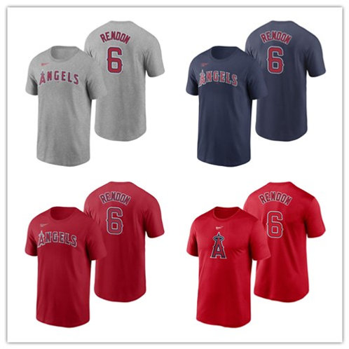 Men Anthony Rendon T-Shirt Gray, Red, Navy Blue