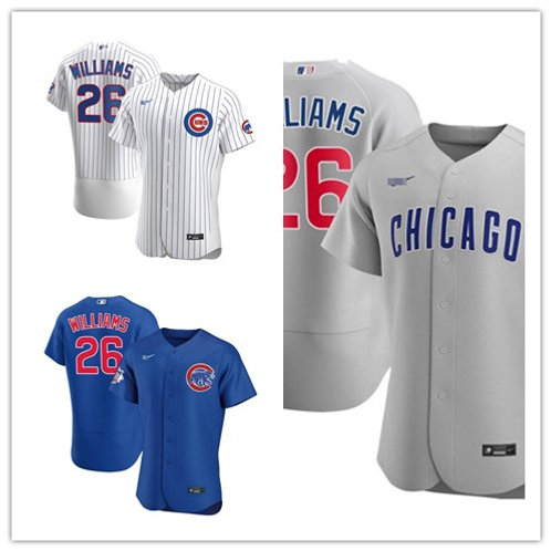 Men Billy Williams 2020/21 Authentic White, Gray, Royal Blue