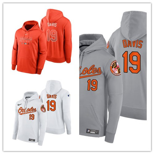 Men Chris Davis Pullover Hoodie White, Gray, Orange