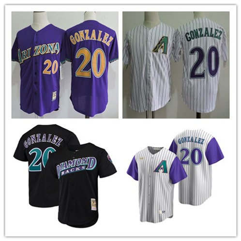 Men Luis Gonzalez Throwback White, Purple, Black
