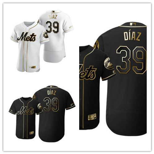 Men Edwin Diaz Flex Base White Golden, Black Golden