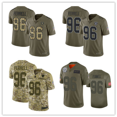 Youth Clelin Ferrell Limited Salute to Service Olive, Camo