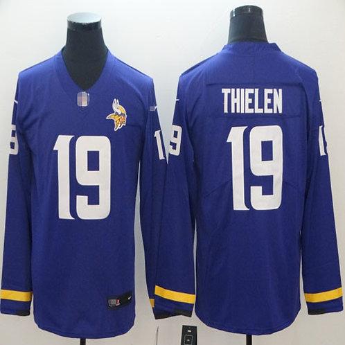 Men Adam Thielen Purple Therma Long Sleeve
