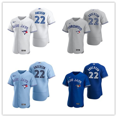 Men Chase Anderson 2020/21 Authentic White, Gray, Royal Blue, Light Blue
