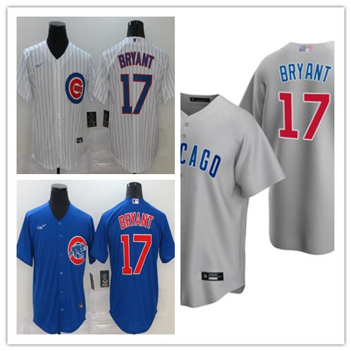 Youth Kris Bryant 2020/21 Replica White, Gray, Royal Blue