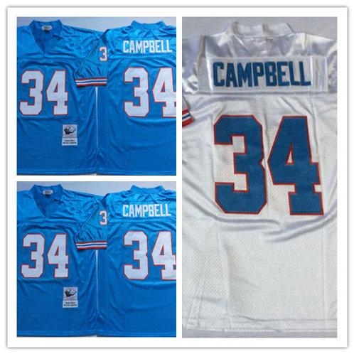Men Earl Campbell Throwback Light Blue, White