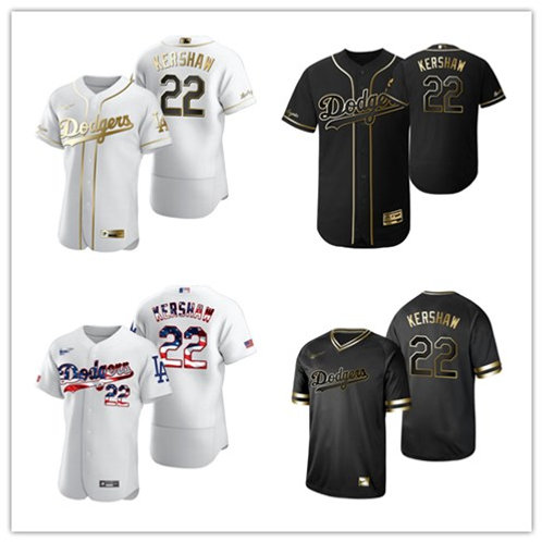 Men Clayton Kershaw Flex Base White Golden, Black Golden, Fashion