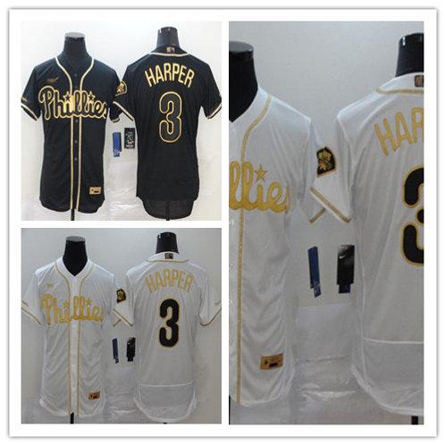 Men Bryce Harper Flex Base White Golden, Black Golden