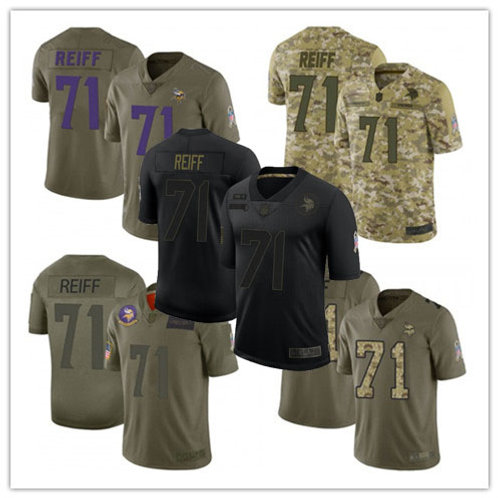 Youth Riley Reiff Limited Salute to Service Olive, Camo, Black